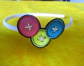 Bright Buttons Headband