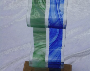 Fused glass art glass handmade by kingfisher stained glass