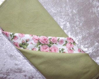 Spring Green and Pink Floral Napkins