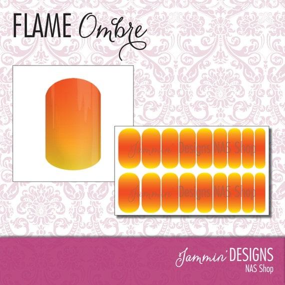 Flame Ombre NAS (Nail Art Studio) Design