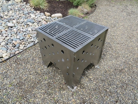 Portable Outdoor Fire Pit Grill : FIRE PIT and grill all in one Portable and compact which makes this