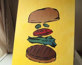 Build-a-Burger :  Spray paint stencil art