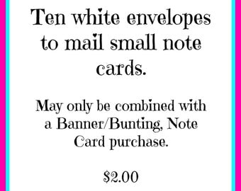 Envelopes for Banner/Bunting by Empowordment Cards by Mimi