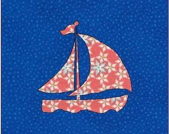 Sailboat quilt blocks paper pieced quilt pattern instant : sailboat quilt pattern - Adamdwight.com