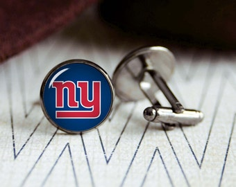 Giants football sports team cufflinks. Gift idea for men, Fathers day, Christmas, prom, wedding cuff links.