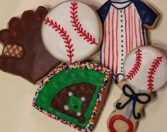 Baseball Baby Shower Cookies