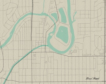 Broad Ripple, Indianapolis Vintage Style Map