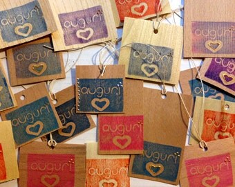 20 compleanno_originali tag_biglietto gift set Christmas greetings or recycled wood _ made by hand