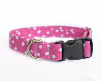 Pink Polka Dot Collar