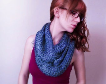 Blue Infinity Scarf