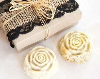Soap Gift Pack  // Twin Set in Gift Box // Handmade with Natural Herbal Ingredients // Traditional Cold Process Soap / / Gift for Mum Mom