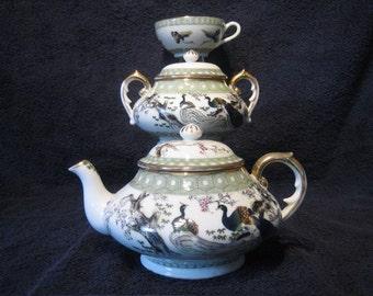 JAPANESE TEA SET - Teapot, Sugar Bowl & Tea Cup