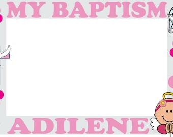 My Baptism photo booth frames frame