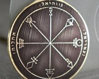 Goetia First Pentacle of Venus Solomon kabbalah amulet pendant