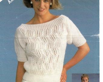 ladies sweater dk knitting pattern 99p pdf