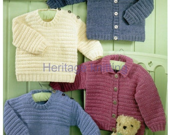 baby childrens sweaters and jacket 4 ply knitting pattern 99p pdf