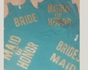 customized bridal party tanks