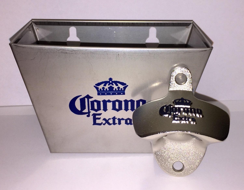 Corona Extra Wall Mounted Bottle Opener Catcher