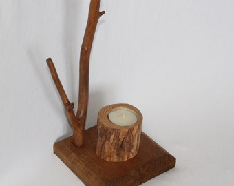 Driftwood branch tea lighter (item 97)
