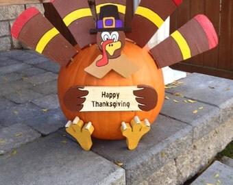 Thanksgiving pumpkin turkey