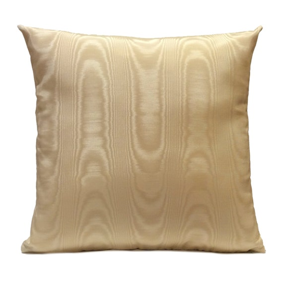 Pale Yellow Throw Pillow Cover : Light Yellow Beige Pillow Moire Pillow Throw Pillow Cover