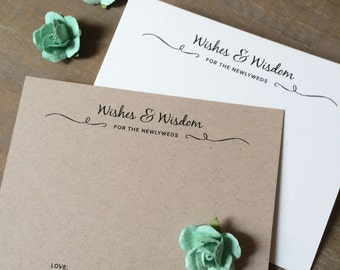 """Wedding Advice Cards """"Wishes and Wisdom"""" - Printable Download"""