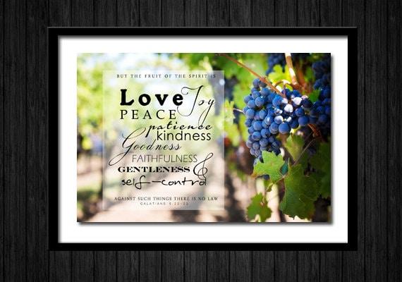 Fruit Of The Spirit Printable Art Encouragement Card