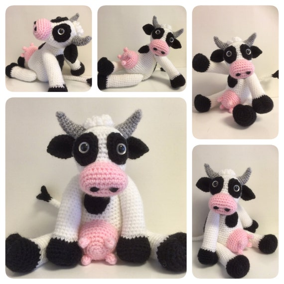 Red Heart Free Crochet Patterns Animals : Crochet Pattern Bella the Cow Crochet Cow Crochet Animal