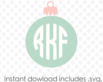 Ornament monogram frame instant download (zipped .eps .pdf .dxf .svg and .studio files) vector cutting files
