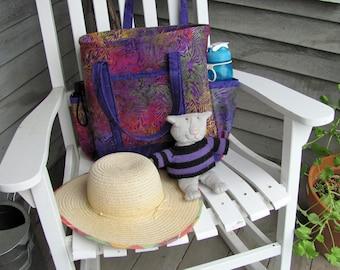 Multi-Colored Batik Tote Bag