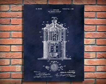 Patent 1899 Lighthouse Light - Signal Light Patent - Ships Beacon - Art Print  - Wall Art - Nautical -  Marine Art - Marina Art - Naval Art