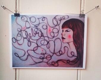 Illustrations made for artzine Febre.