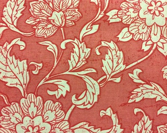 Fabric destash, Pink and White Floral Cotton Quilting Fabric from 8th Day Encore