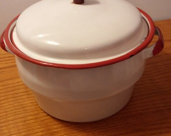 Enamel Pot with Lid