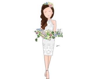 Custom Portrait, Custom Illustration Full Body, Cartoon/ Doodle Drawing (Digital)