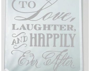 Etched Mirror - Love, Laughter, Happily Ever After