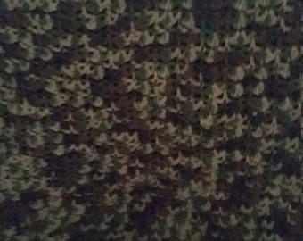 Crocheted Camouflage afghan