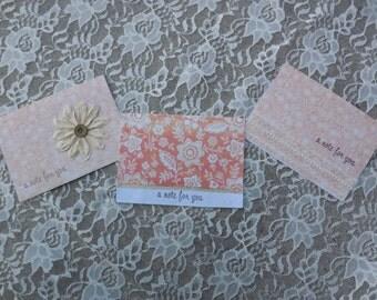 Handmade Cards-Friendship Cards- Set of Handmade Cards- Handmade Note Cards- Friendship Note Cards- Blank Cards