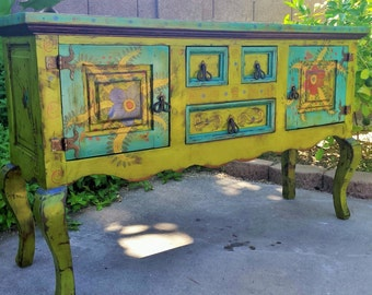 SOLD...Mexican style sideboard, buffet