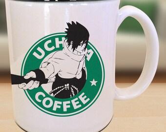 Uciha Starbucks Anime Manga Cartoon Inspired Geek Nerd Parody Mug