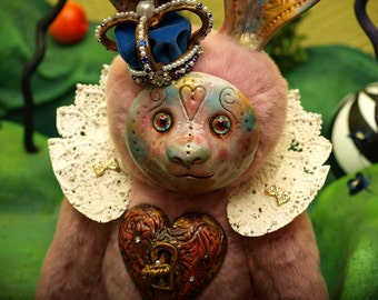 Handmade collectible toy Hare Abigail Queen of Lovers Hearts