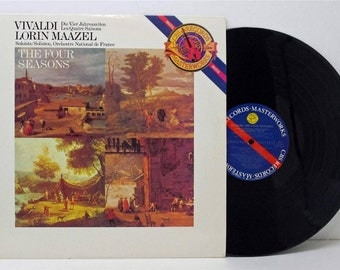 Vivaldi The Four Seasons Lorin Maazel 1984 LP Vinyl CBS Digital IP 7644