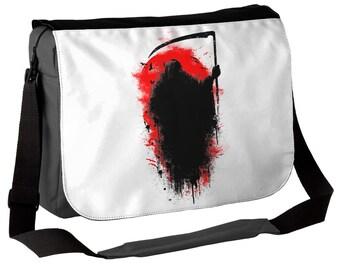 Reaper - Gothic Messenger Bag - Dark but Beautiful Grim Reaper Bag - Ideal Goth Gift