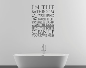 Bathroom Wall Decal Sticker Part 8
