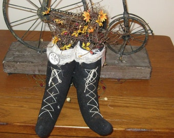 Witch Shoes - Halloween Centerpiece - Fall Decoration
