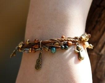 FREE SHIPPING boho beaded bracelet, womens jewelry, ethnic beaded bohemian bracelet, womens bracelet,