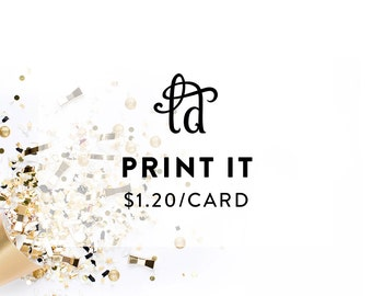 Printed Invitations - Any Size - Choose Your Quantity