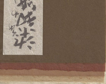 Ten Pieces of Matuso Kozo Japanese Washi Paper / Tissue · Chine Collé Assortment