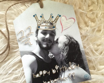 Personalized Photo Gift Tag