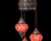 Arabian Mosaic Lamps, Moroccan Lantern, Chandelier,Turkish Light, Hanging Lamp, Mosaic lighting
